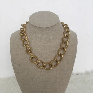 Monet Gold Chunky Link Necklace